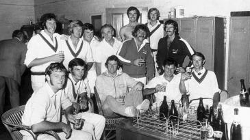 Australia celebrate beating Pakistan, Sydney, January 11, 1973