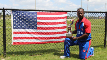 USA captain Orlando Baker with the championship trophy