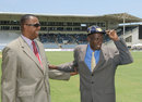 Wes Hall was inducted in to the ICC Hall of Fame, West Indies v Australia, 2nd Test, 1st day, Kingston, June 11, 2015