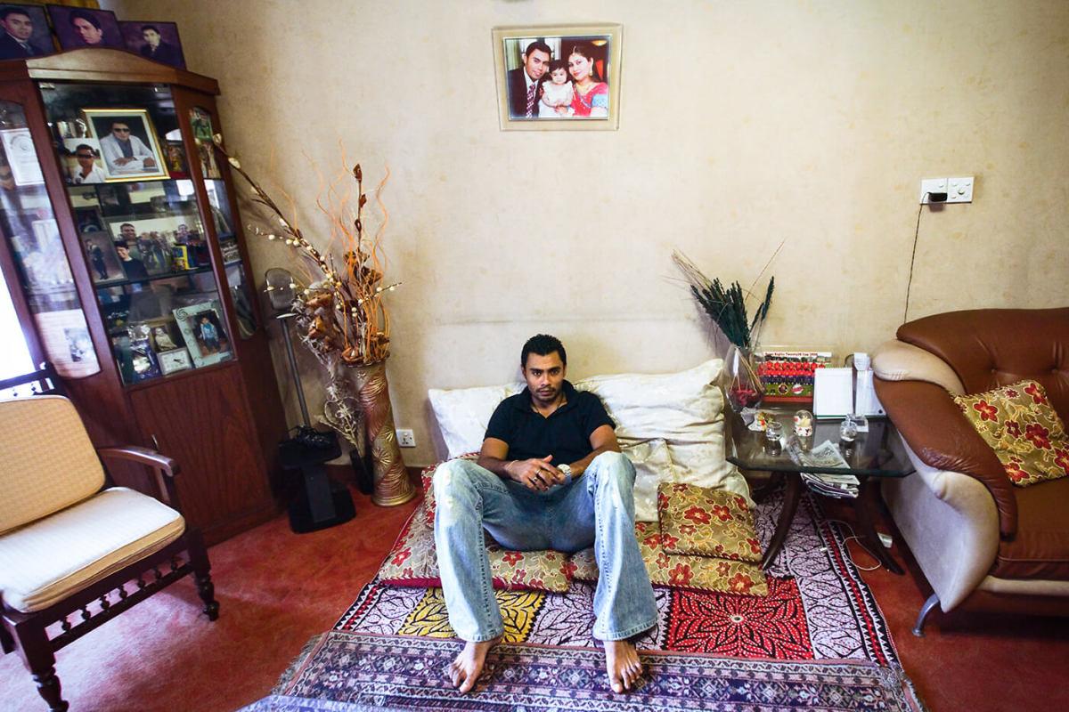 Danish Kaneria relaxes at his Karachi home