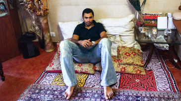 Danish Kaneria relaxes at his Karachi home