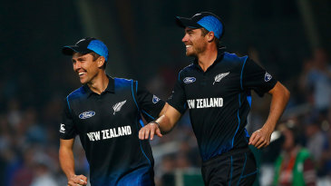 Not just bowling partners, Tim Southee and Trent Boult also take catches together
