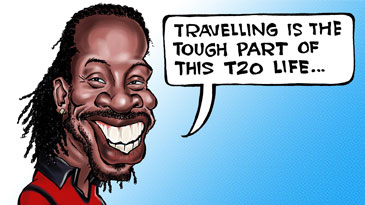 Cartoon: Hectic travel