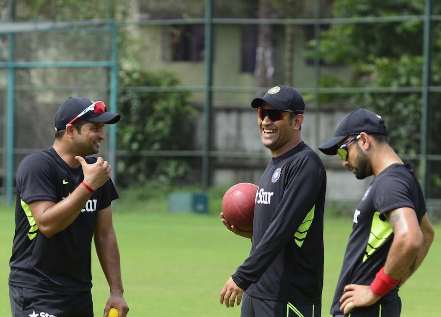 Raina, Dhoni and Kohli