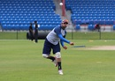 Japen Patel throws at a practice session, ICC Americas Division One T20, Lauderhill, March 19, 2013