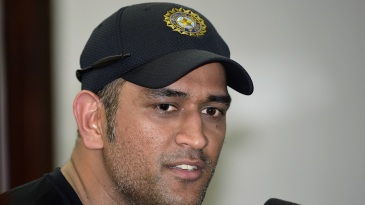 MS Dhoni addresses the media ahead of the first ODI against Bangladesh
