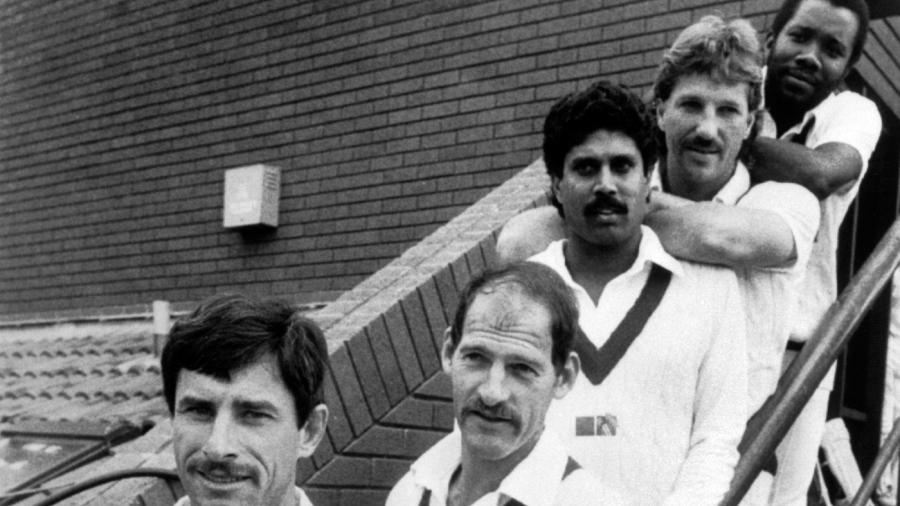 Richard Hadlee, Clive Rice, Kapil Dev, Ian Botham and Malcolm Marshall