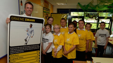 Graeme Swann was launching Chance to Shine's new card game