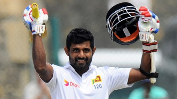 Kaushal Silva is delighted after bringing up his second Test century