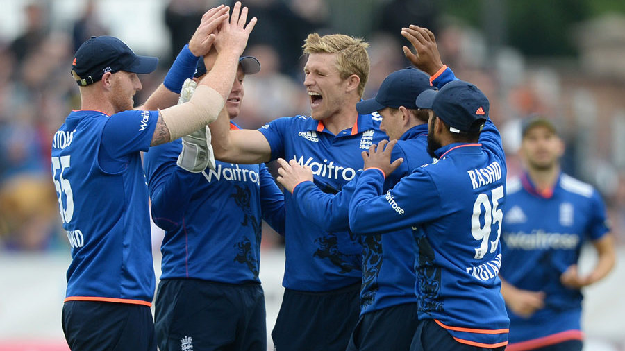 David Willey struck twice in two overs