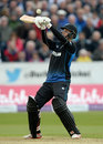 Ben Wheeler improvised during his 39 off 28 balls, England v New Zealand, 5th ODI, Chester-le-Street, June 20, 2015