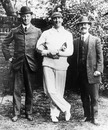 The three captains pose ahead of the ill-fated 1912 Triangular Tournament.  Frank Mitchell (South Africa, left), CB Fry (England, middle) and Syd Gregory (Australia, right)