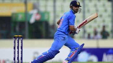 Virat Kohli targets the off side