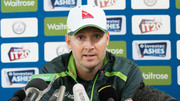 Michael Clarke addresses the media at a press conference