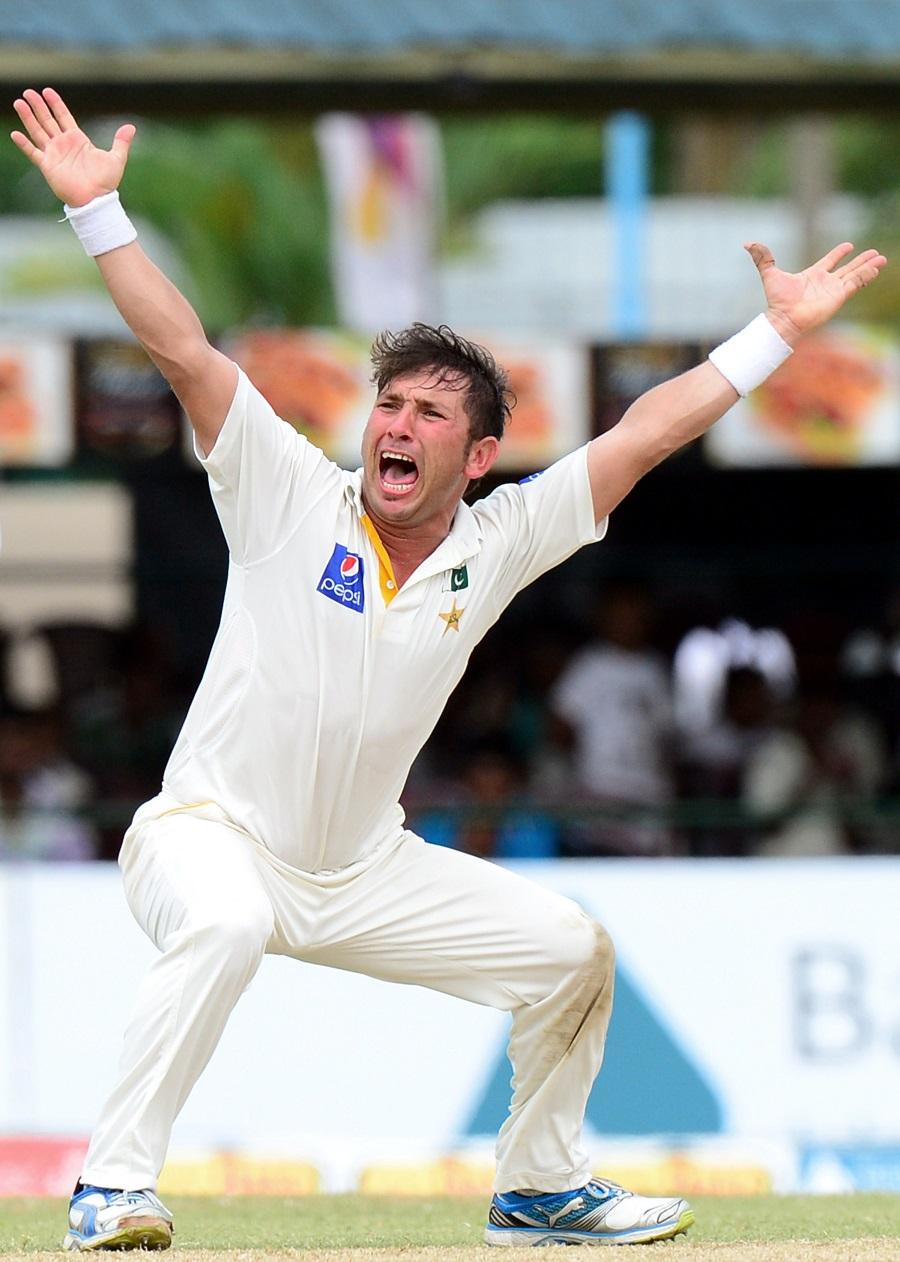 Yasir Shah roars an appeal   Cricket Photo   ESPN Cricinfo