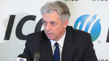 David Richardson speaks at the ICC Annual Conference