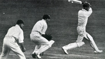Archie Jackson batting against England in 1930