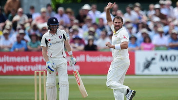 Ryan Harris opened his wicket tally for the Ashes tour