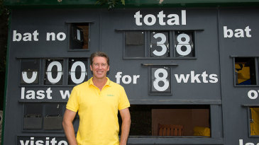 The scoreboard reflects Glenn McGrath's best Ashes figures