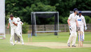 Scott Walter gets the crucial wicket of Durham University captain Callum McCabe