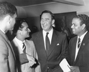 Polly Umrigar, Datta Gaekwad, Denis Compton and Vijay Manjrekar at the British Sportsman's Luncheon at the Savoy, London, April 21, 1959