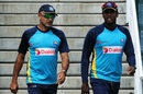 Marvan Atapattu and Angelo Mathews have a chat, Pallekele, July 2, 2015