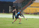 Coach Haidee Tiffen during a slip-catching drill, Bangalore, July 2, 2015