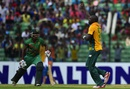 Legspinner Eddie Leie celebrates a wicket, BCB XI v South Africans, Fatullah, July 3, 2015