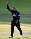Sussex bowler Tymal Mills celebrates one of his four wickets against Middlesex, Middlesex v Sussex, Natwest T20 Blast, South Group, Lord's, July 2, 2015