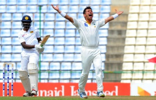 Yasir Shah completed another five-wicket haul, Sri Lanka v Pakistan, 3rd Test, Pallekele, 2nd day, July 4, 2015