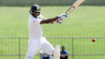 Angelo Mathews strokes one through the off side