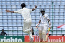 Ehsan Adil celebrates after dismissing Kaushal Silva, Sri Lanka v Pakistan, 3rd Test, Pallekele, 3rd day, July 5, 2015