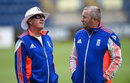 Trevor Bayliss and Paul Farbrace shoot the breeze, Cardiff, July 5, 2015