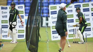 Side by side: Mitchell Marsh and Shane Watson net together, but who will get the nod?