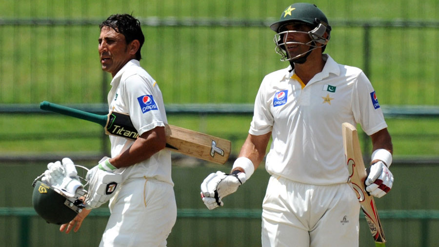 Younis Khan and Misbah-ul-Haq added an unbroken 127 for the fourth wicket