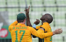 Eddie Leie picked up three wickets on his debut, Bangladesh v South Africa, 2nd T20I, Mirpur, July 7, 2015
