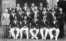 The MCC squad for the 1932-33 tour of Australia and New Zealand. Back: George Duckworth, Tommy Mitchell, The Nawab of Pataudi, Maurice Leyland, Harold Larwood, Eddie Paynter, Bill Ferguson (scorer). Middle: Plum Warner (manager), Les Ames , Hedley Verity, Bill Voce, Bill Bowes, Freddie Brown, Maurice Tate, Dick Palairet (assistant manager). Front: Herbert Sutcliffe, Bob Wyatt, Douglas  Jardine (captain), Gubby Allen, Wally Hammond.