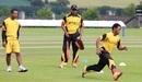 Dipak Patel supervises slide practice, Bready Cricket Club, July 8, 2015