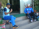Former India spinner Venkatapathy Raju and Nepal coach Pubudu Dassanayake, May 2015