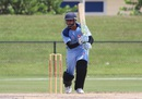 Shiva Vashishat looks for a run through the covers, Atlantic v North West, USACA T20 National Championship, Lauderhill, August 15, 2014