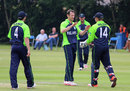 Alex Cusack took two wickets for 25 runs, Ireland v Namibia, World Twenty20 Qualifier, Belfast, July 10, 2015