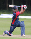 Gyanendra Malla slog sweeps over the leg side, Nepal v USA, World Twenty20 Qualifier, Belfast, July 10, 2015
