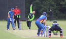 Paul Stirling bowls, Ireland v Namibia, World Twenty20 Qualifier, Belfast, July 10, 2015