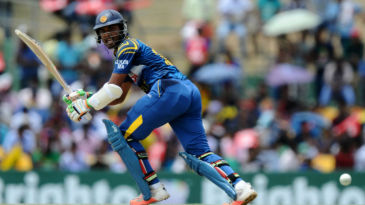 Dinesh Chandimal flicks it behind square on the leg side