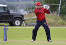 Edward Farley smashed three fours and four sixes in his 57, Hong Kong v Jersey, World T20 Qualifier, Bready, July 11, 2015