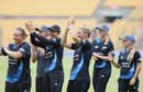 The New Zealand players celebrate their win, India v New Zealand, 1st women's T20, Bangalore, July 11, 2015