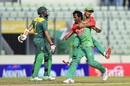 Rubel Hossain is ecstatic after dismissing Hashim Amla, Bangladesh v South Africa, 2nd ODI, Mirpur, July 12, 2015