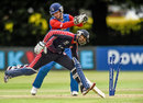 USA captain Muhammad Ghous was run-out for 1, Namibia v United States of America, World Twenty20 Qualifier, Group A, Belfast, July 13, 2015