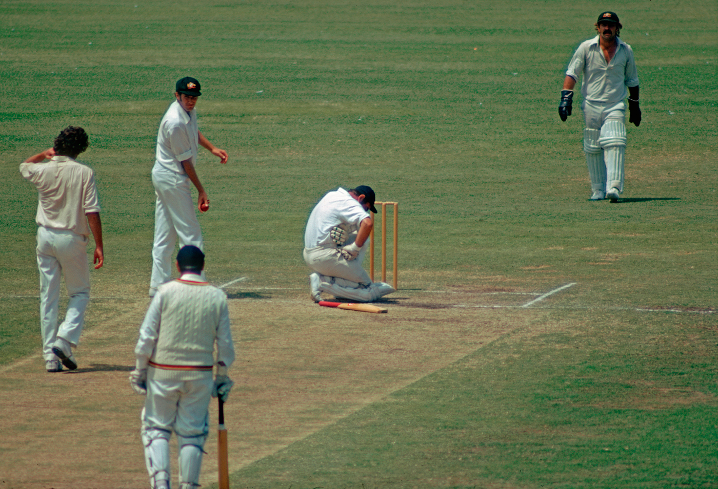 Sticks, stones and bones: Edrich gets a rib cracked by Lillee in Sydney, 1975