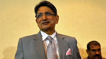 RM Lodha, former Chief Justice of India, at a press conference